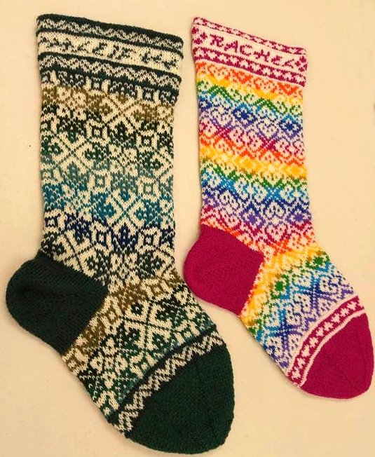 knitting fair isle christmas stocking