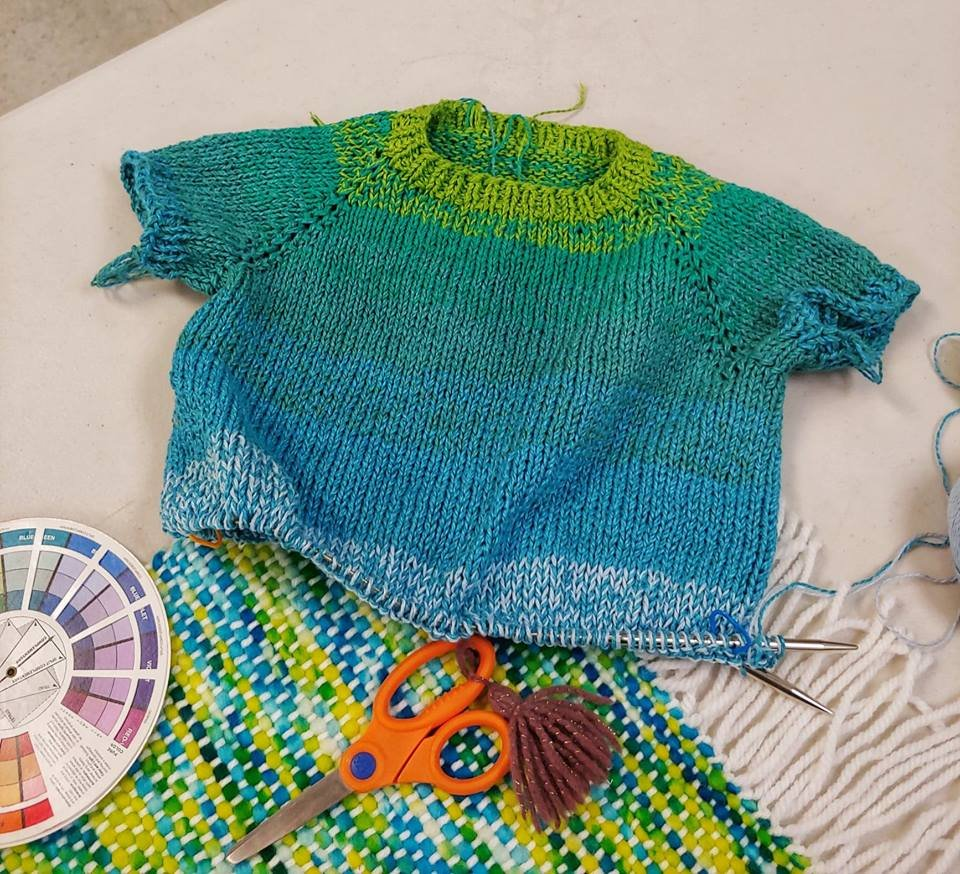 Knitting Top Down Kids Sweater