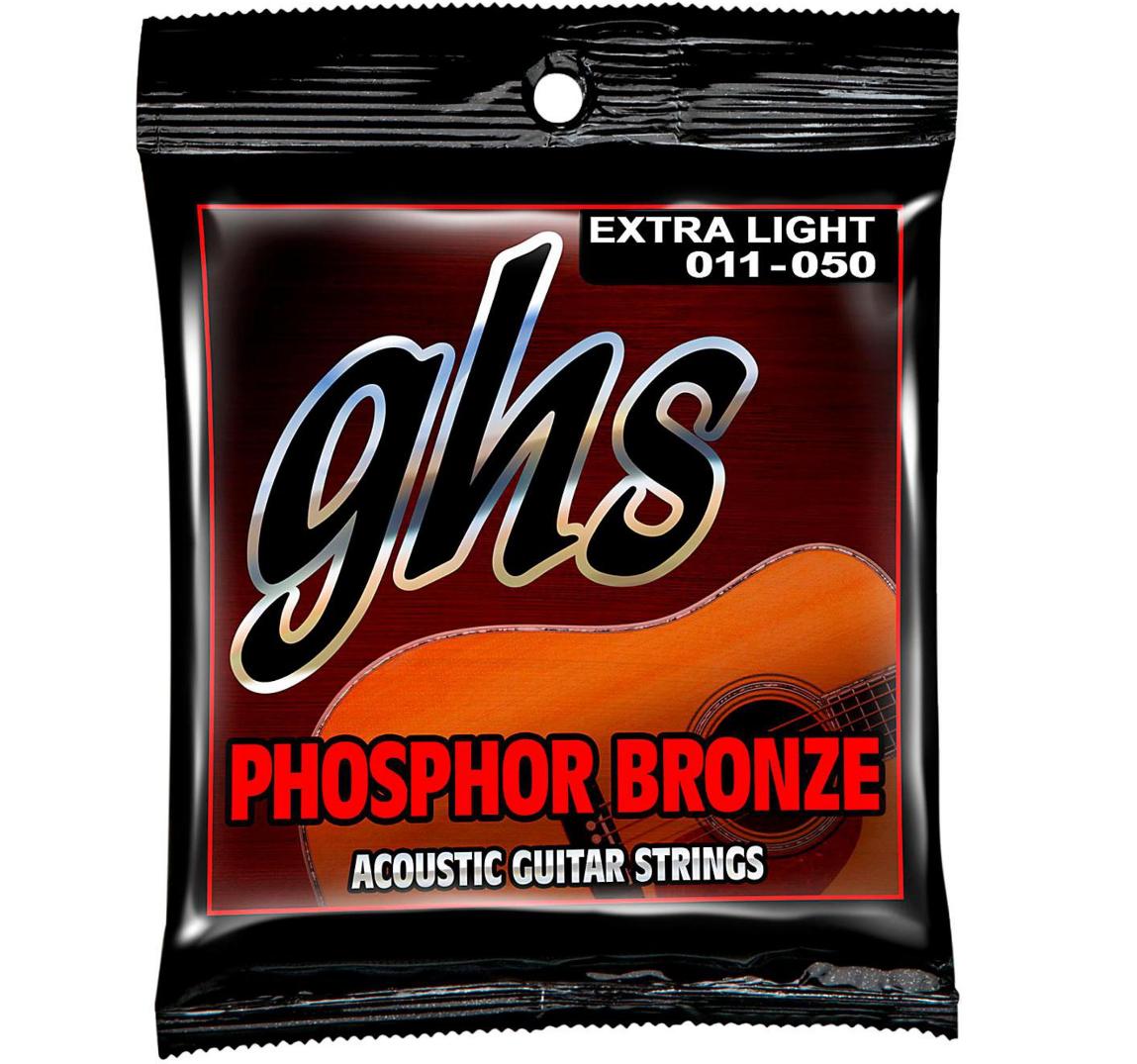 GHS ACOUSTIC STRING SET PHOSPHOR BRONZE