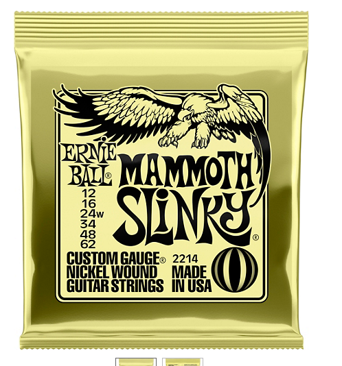 Ernie Ball Mammoth Slinky Nickel Wound Electric Guitar Strings