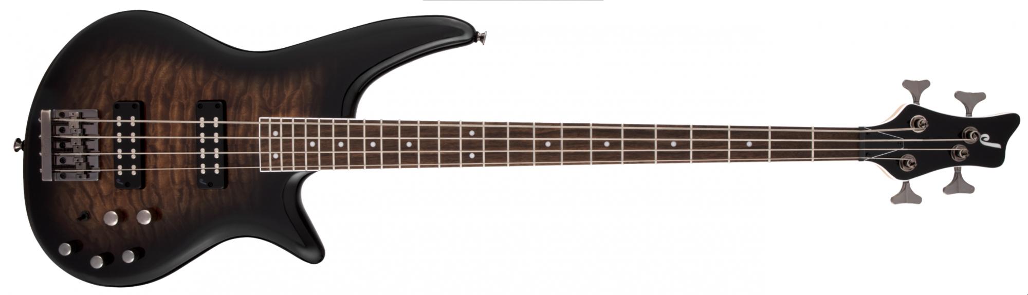 Jackson JS Series Spectra Bass JS3Q, Laurel Fingerboard, Dark Sunburst