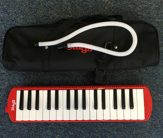 Stagg 32 Key Melodica with Gig Bag Red