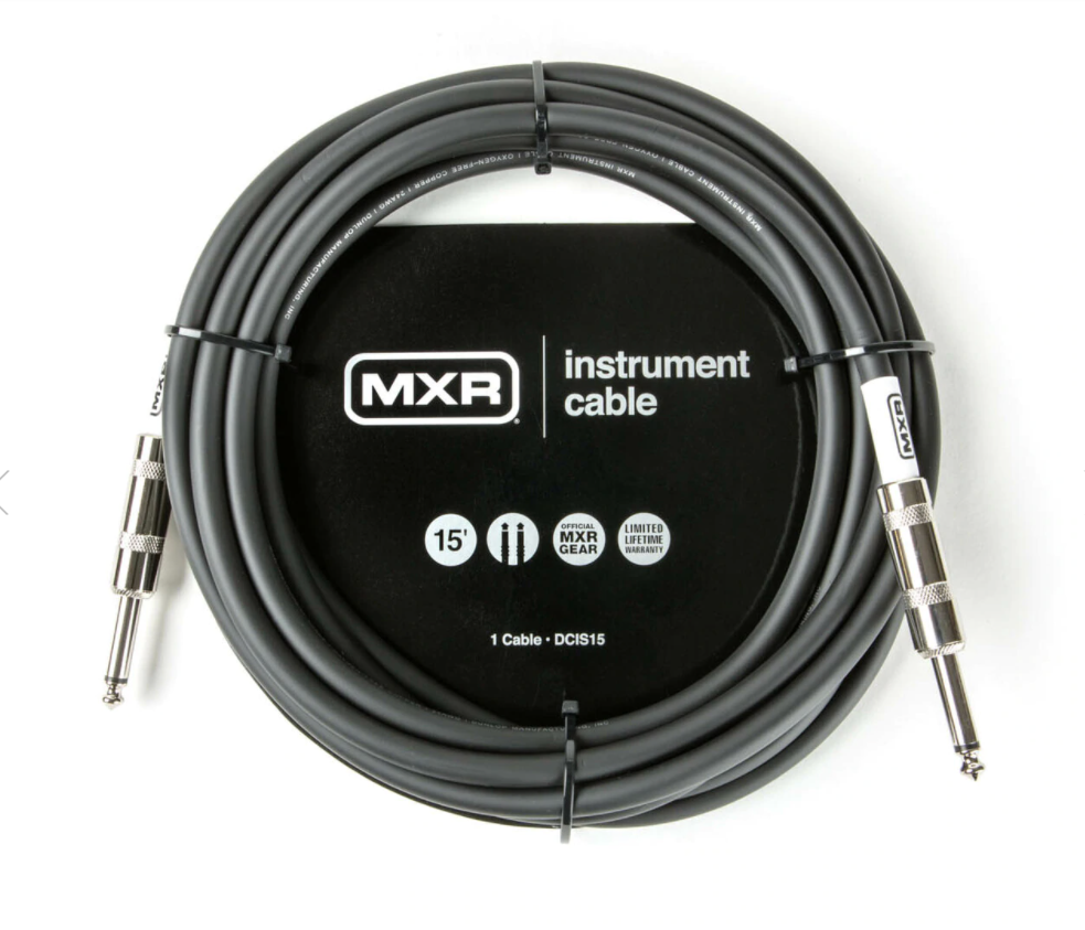 MXR 15FT STANDARD INSTRUMENT CABLE - STRAIGHT / STRAIGHT