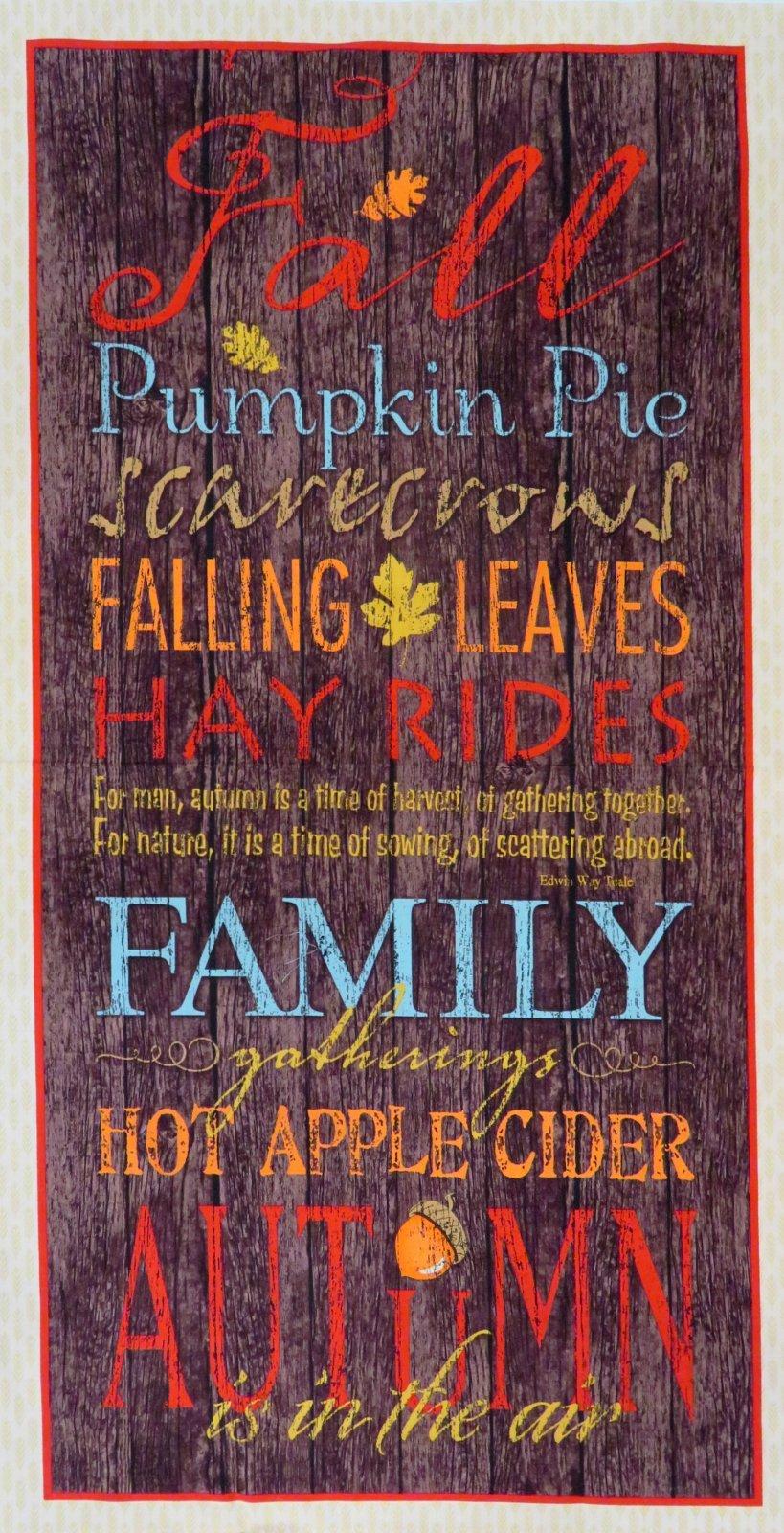 Multi Colors of Fall Panel