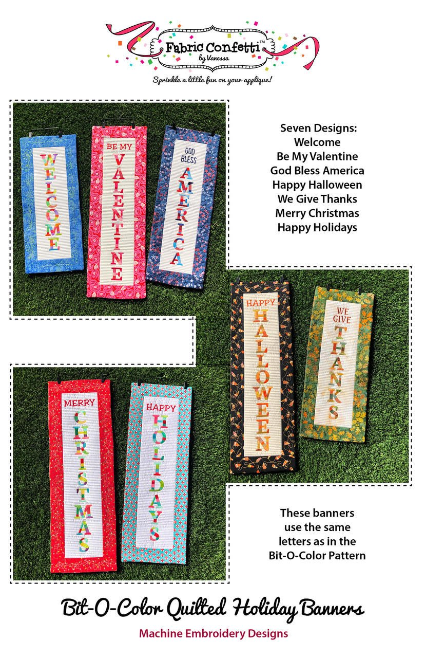 Bit-O-Color Quilted Holiday Banners