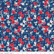 Land of Liberty Floral Navy