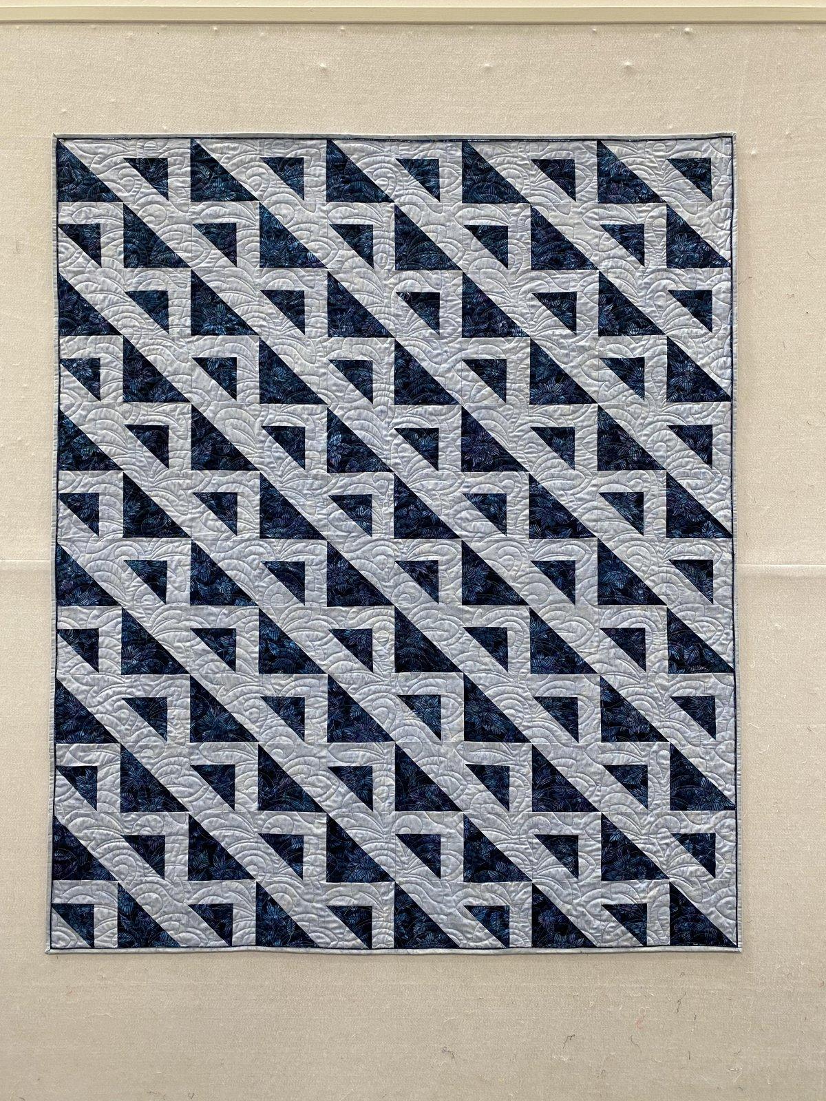 Chop Quilt Kit Blue Batiks