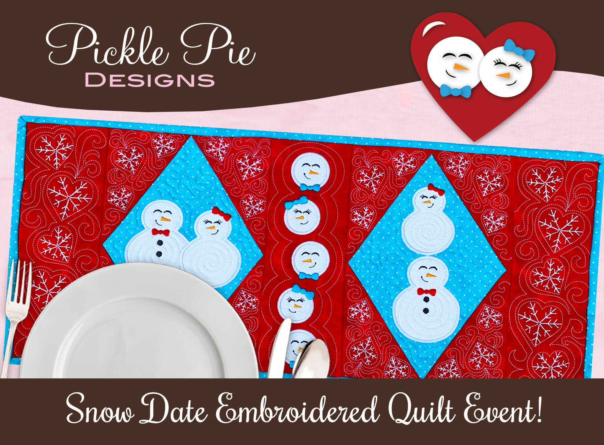Snow Date Embroidery Box & Event Registration