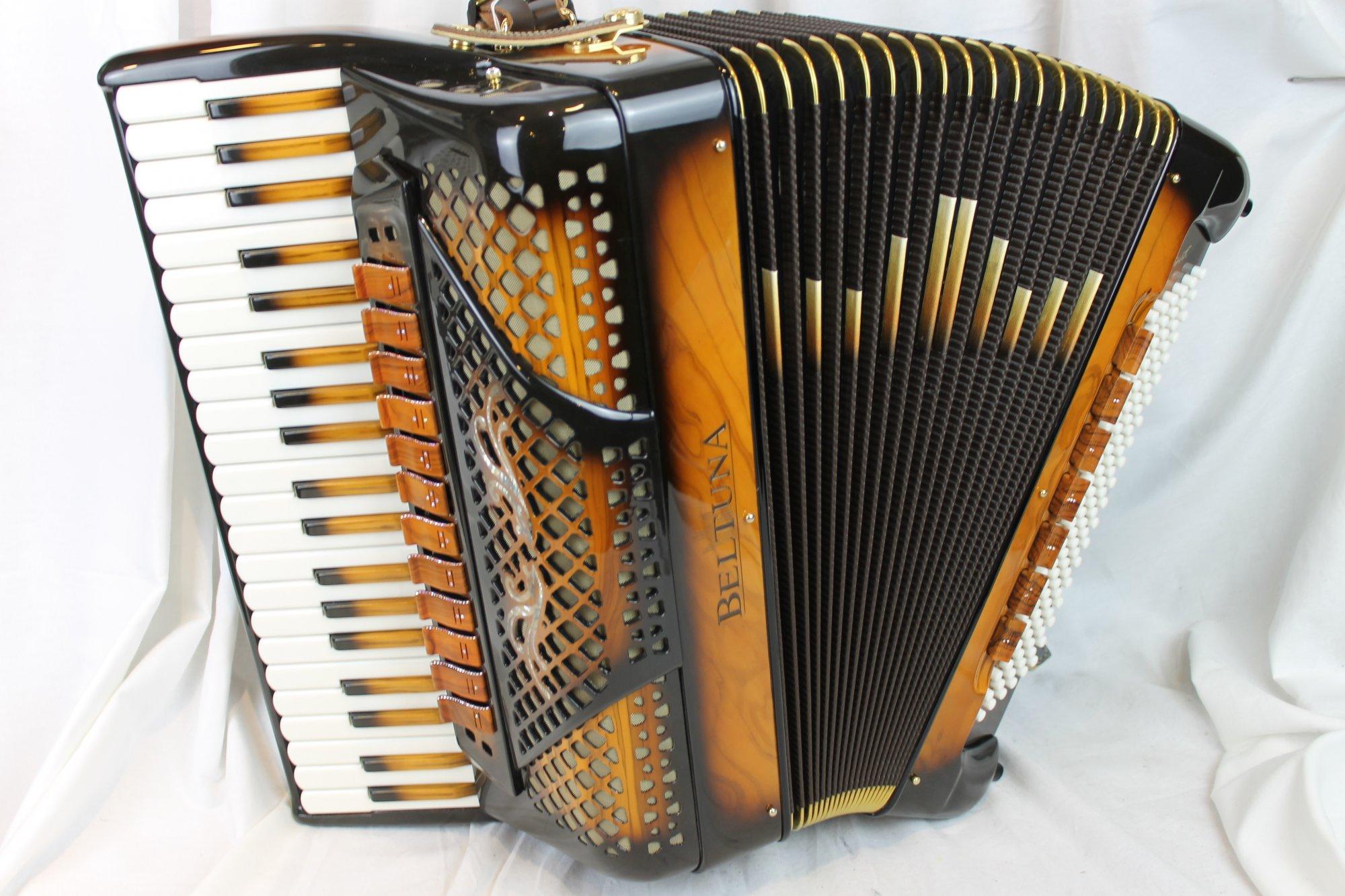 NEW Sunburst Beltuna Spirit IV Luxury Edition Piano Accordion LMMH 41 120