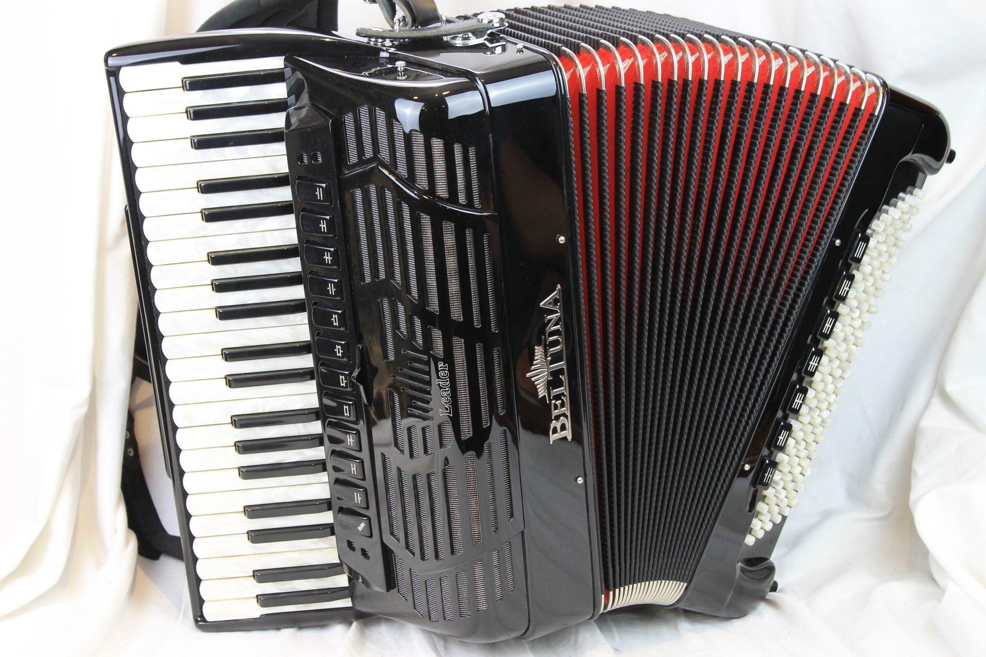 NEW Black Beltuna Leader IV Piano Accordion Slender LMMH 41 120