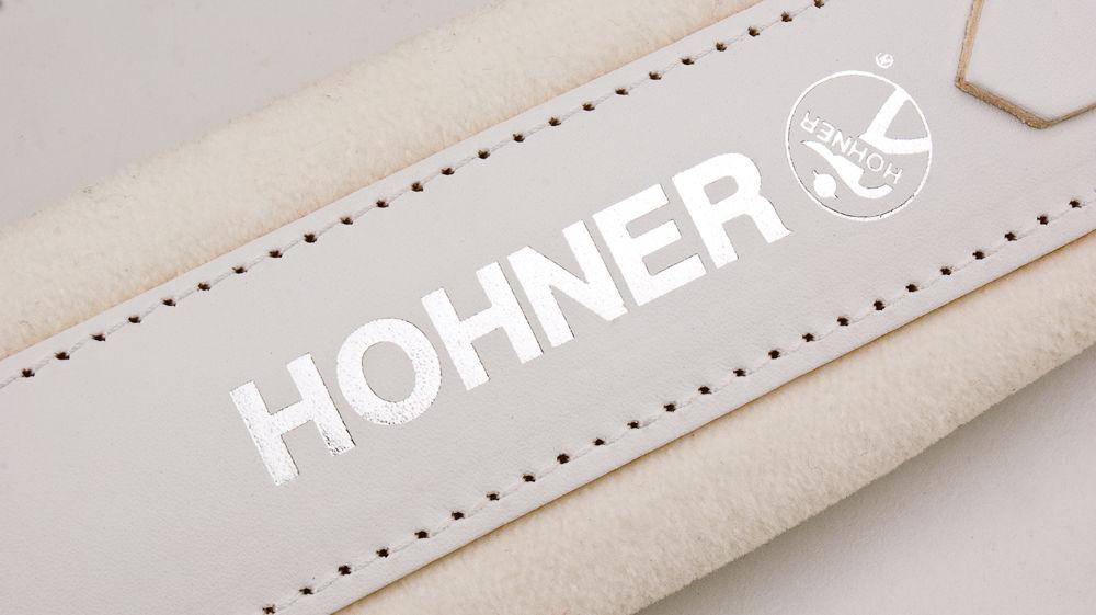 New White Leather Velour Hohner Accordion Straps ACC12