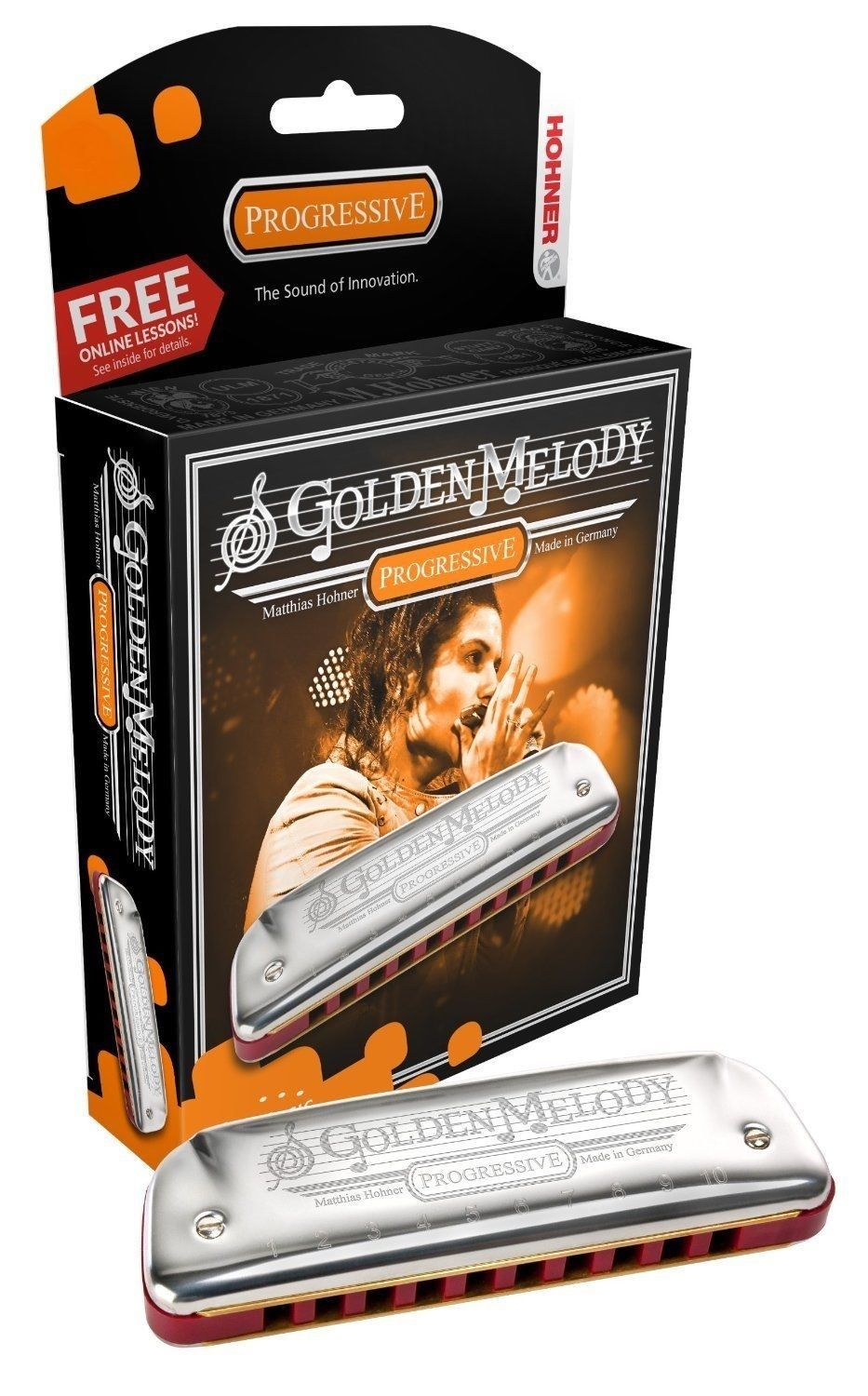 New Hohner Golden Melody Diatonic Harmonica Key of G