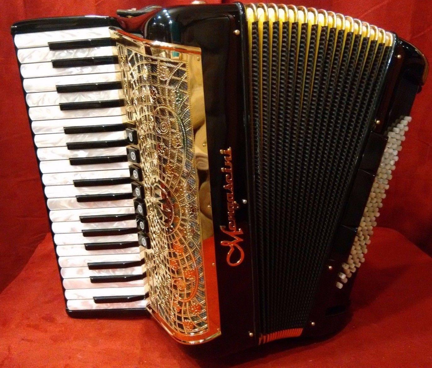 NEW Black Gold Mengascini Preferita 373 Piano Accordion LMM 37 96