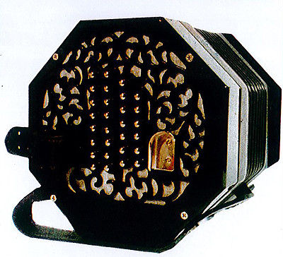New Black Stagi English Concertina Model A-56-N