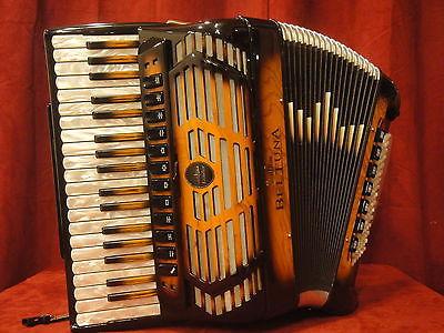 NEW Sunburst Beltuna Leader IV Piano Accordion LMMH 37 96