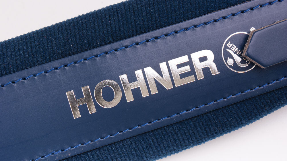 New Blue Leather Velour Hohner Accordion Straps ACC13