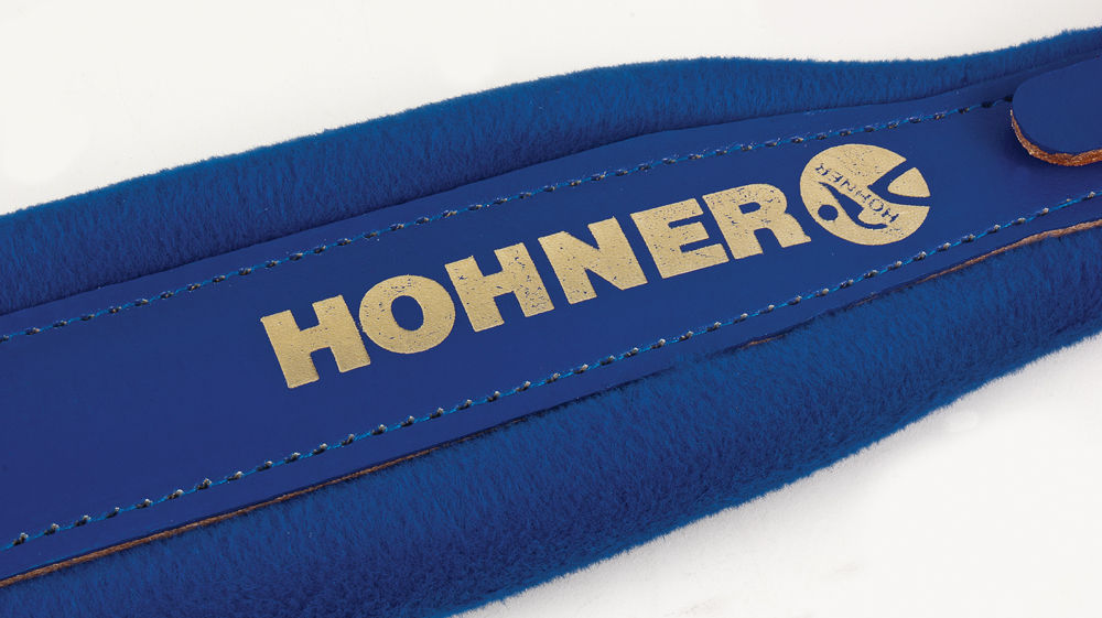 New Blue Leather Plush Hohner Accordion Straps ACC7