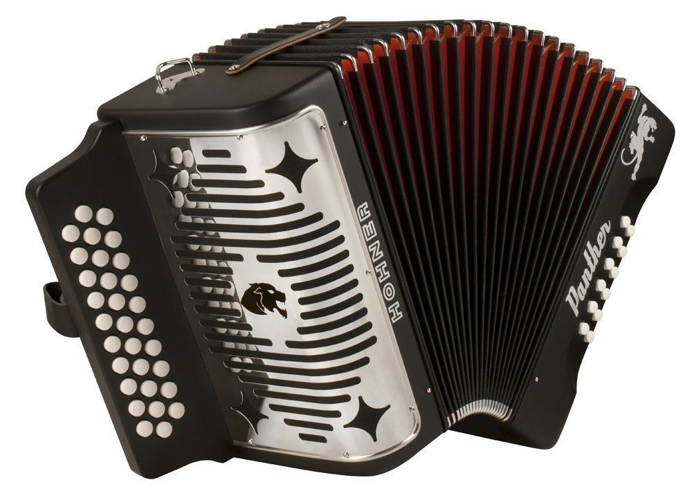 NEW Black Hohner Panther Diatonic Button Accordion GCF Sol MM 31 12