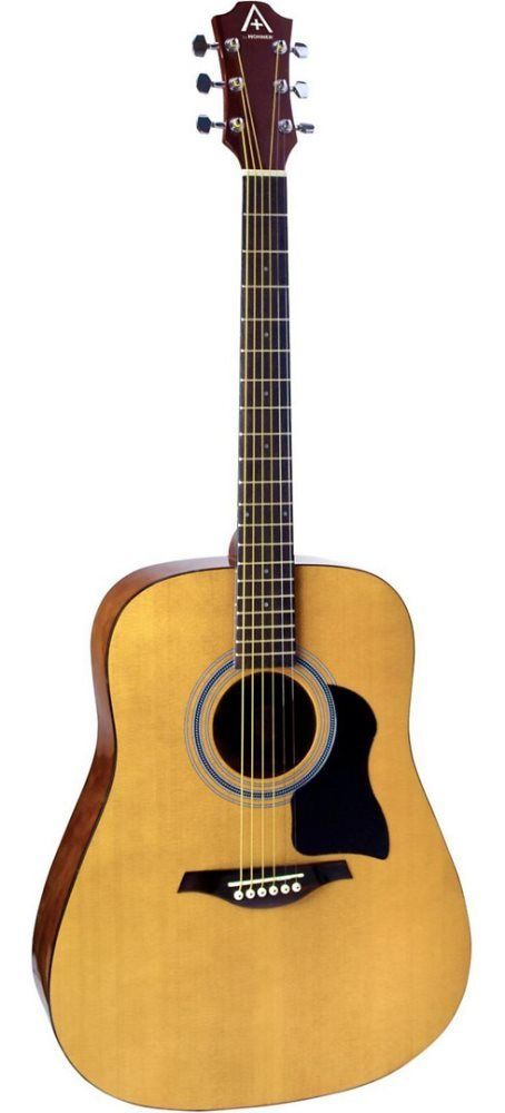 NEW Hohner AS220 Full Size Dreadnought Acoustic Guitar Natural Steel String