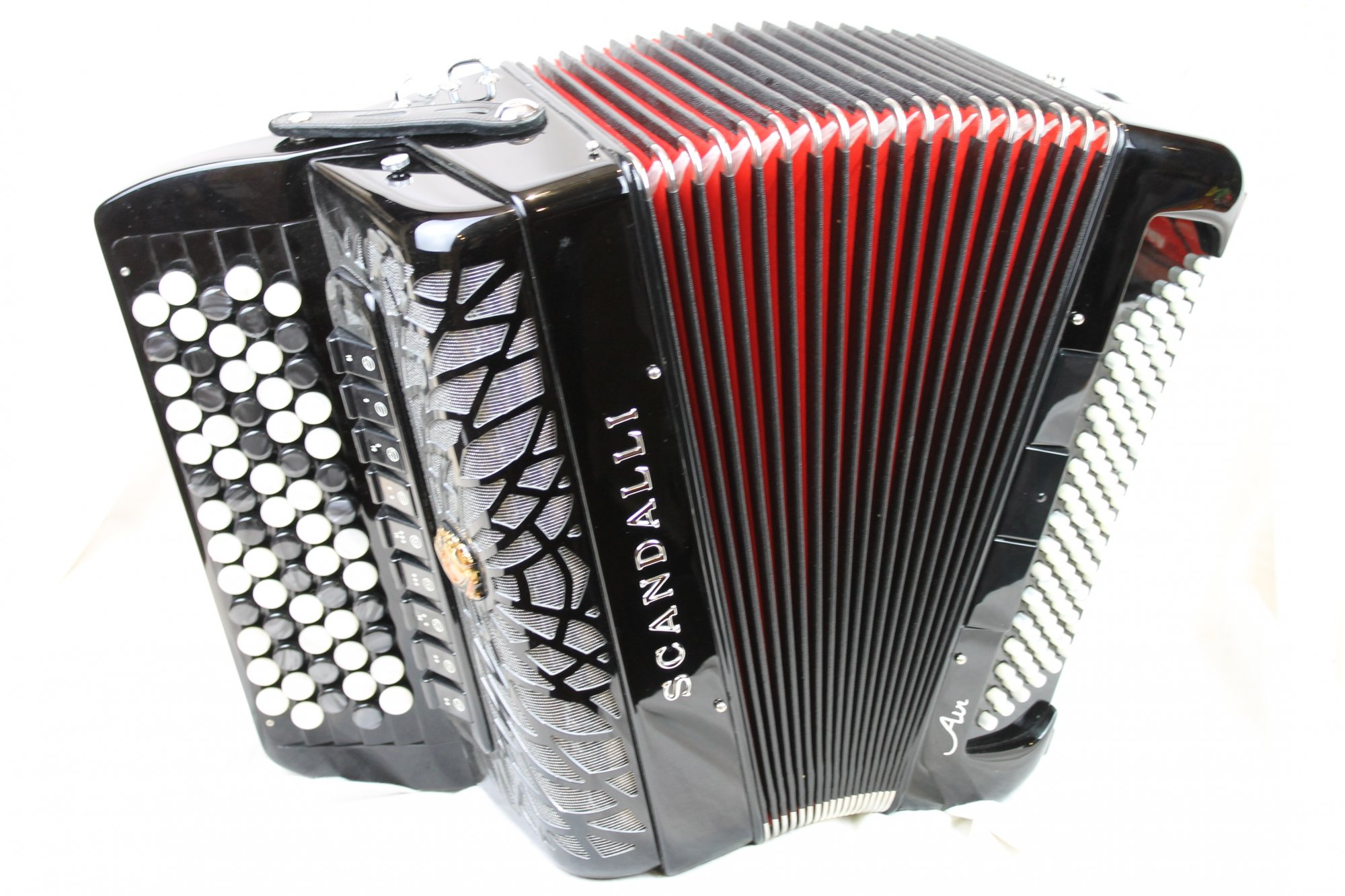 NEW Black Scandalli Air Junior Chromatic Button Accordion B LMMM 67 96