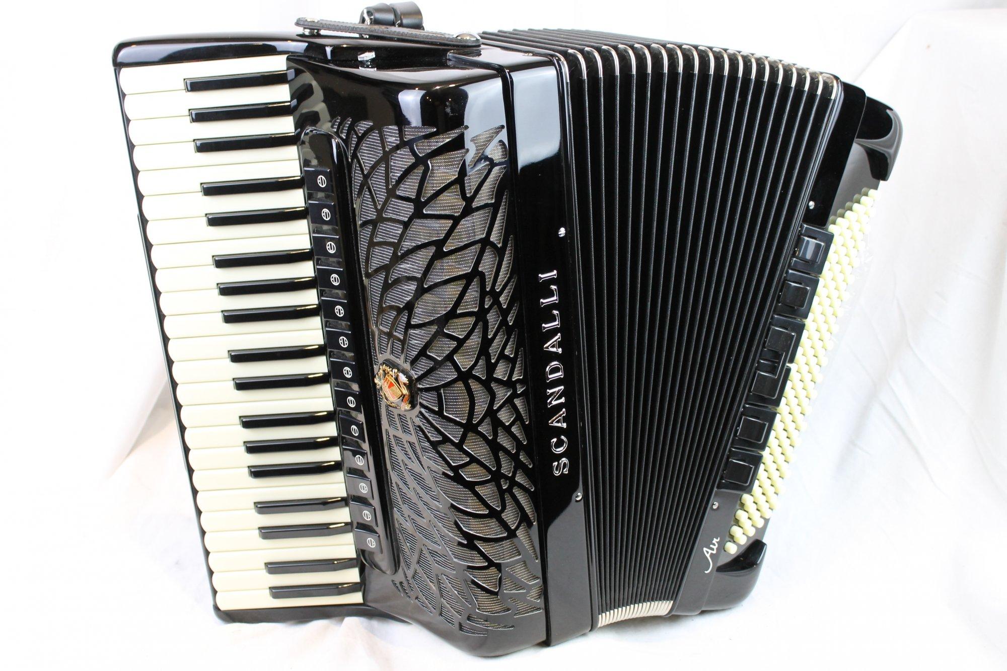 NEW Black Scandalli Air VI Piano Accordion LMMH 41 120