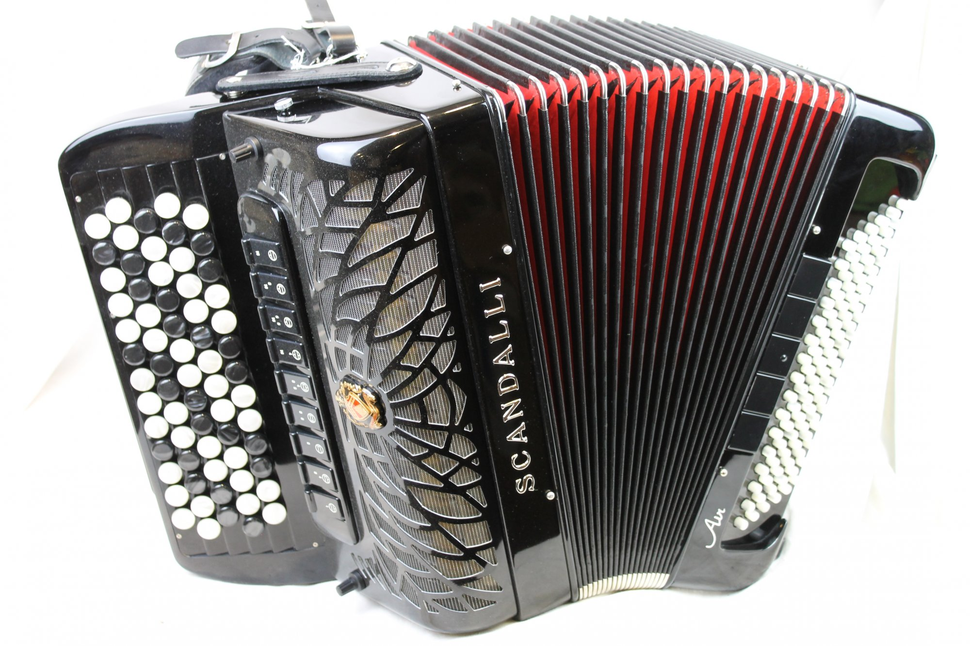 NEW Black Scandalli Air II Chromatic Button Accordion B LMMH 67 96