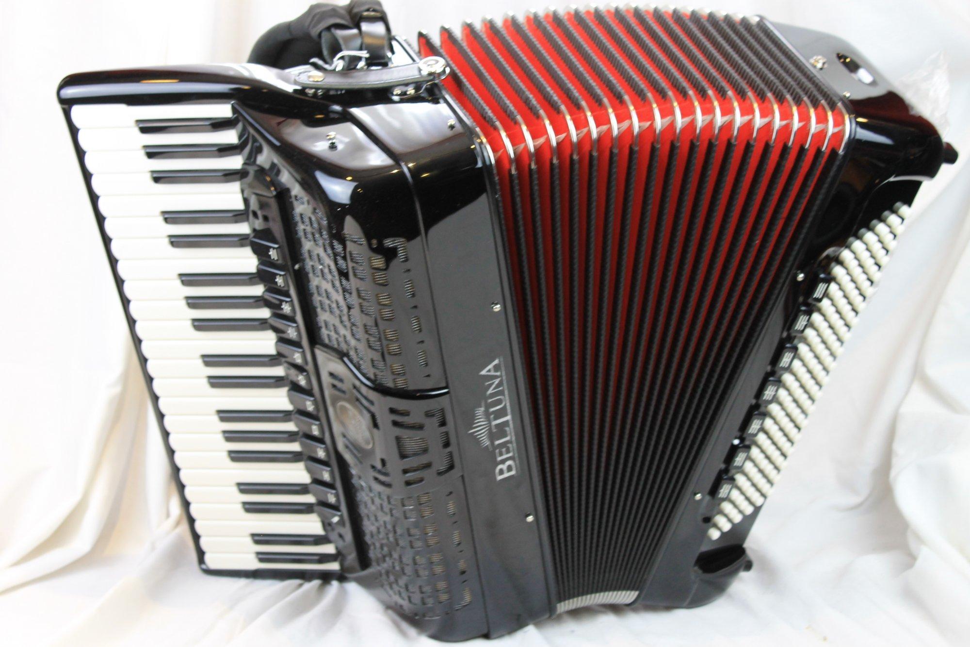 NEW Black Beltuna Prestige IV Piano Accordion LMMH 41 120
