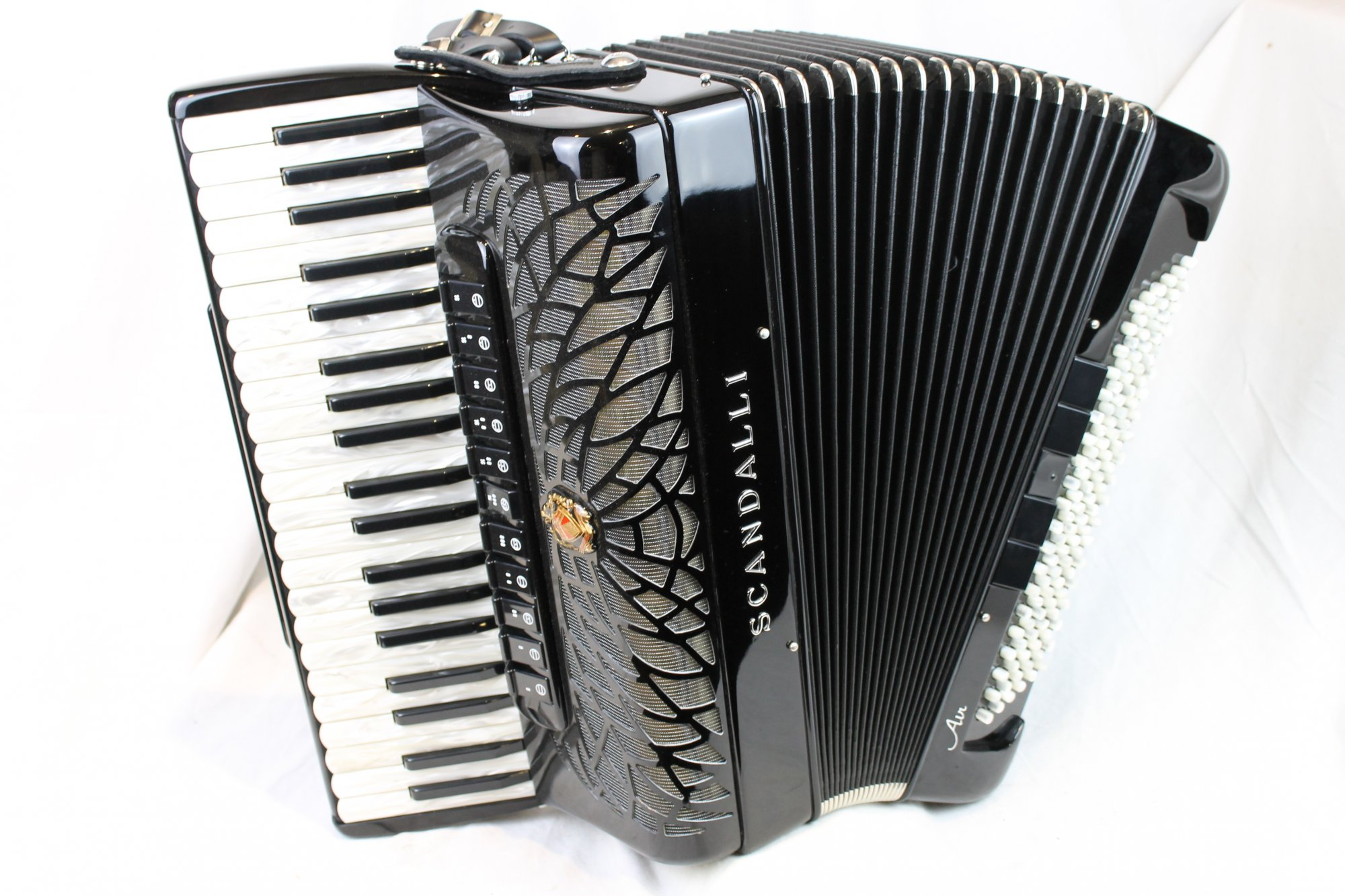 NEW Black Scandalli Air I S Piano Accordion LMMM 41 120