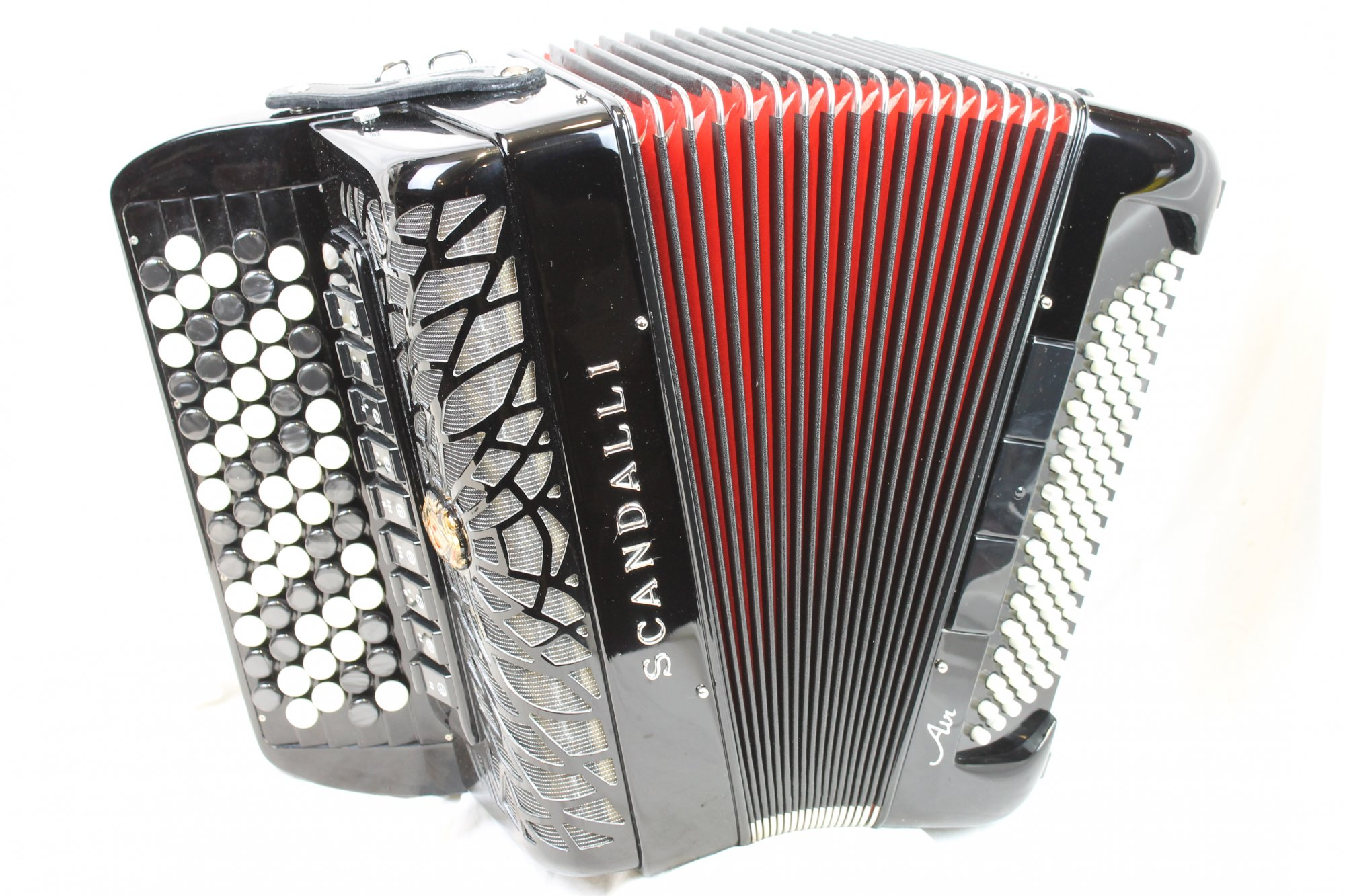 NEW Black Scandalli Air Junior Chromatic Button Accordion C LMMM 67 96