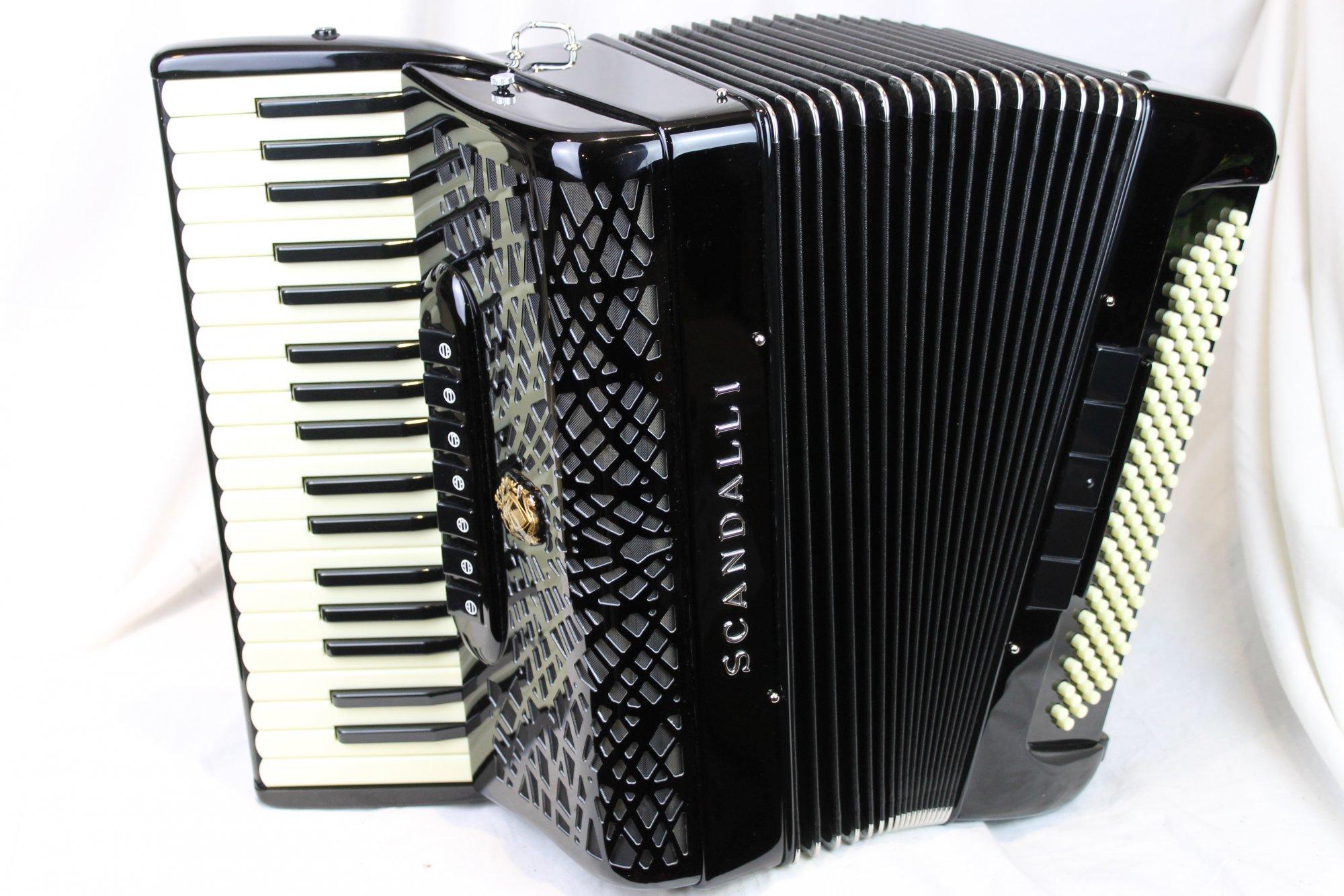 NEW Black Scandalli Conservatorio P 342 Piano Accordion Converter B LMH 37 118