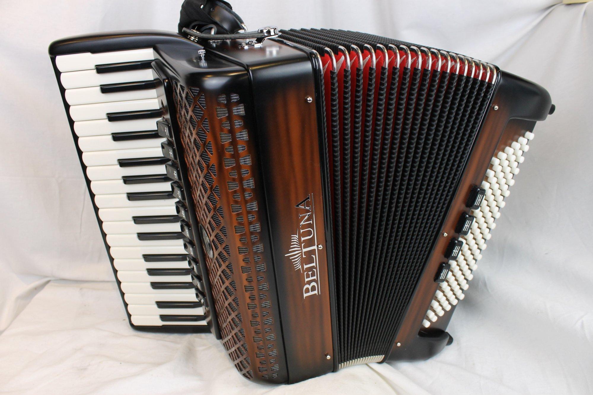 NEW Chocolate Beltuna Studio IV Piano Accordion LMMM 34 96