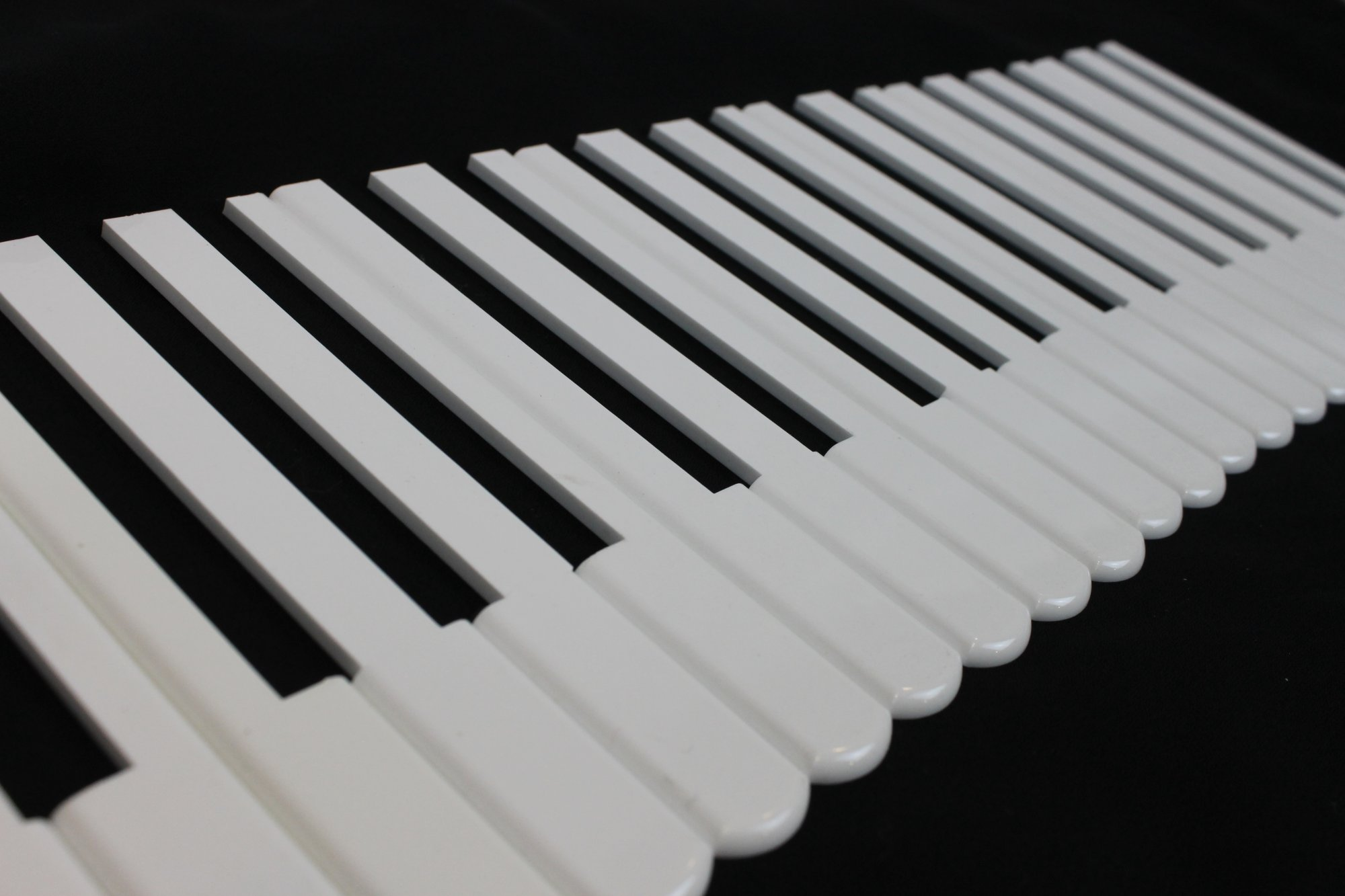 Piano Accordion Part - Set of 24 Pre-Cut White Key Tops 20.5mm Width