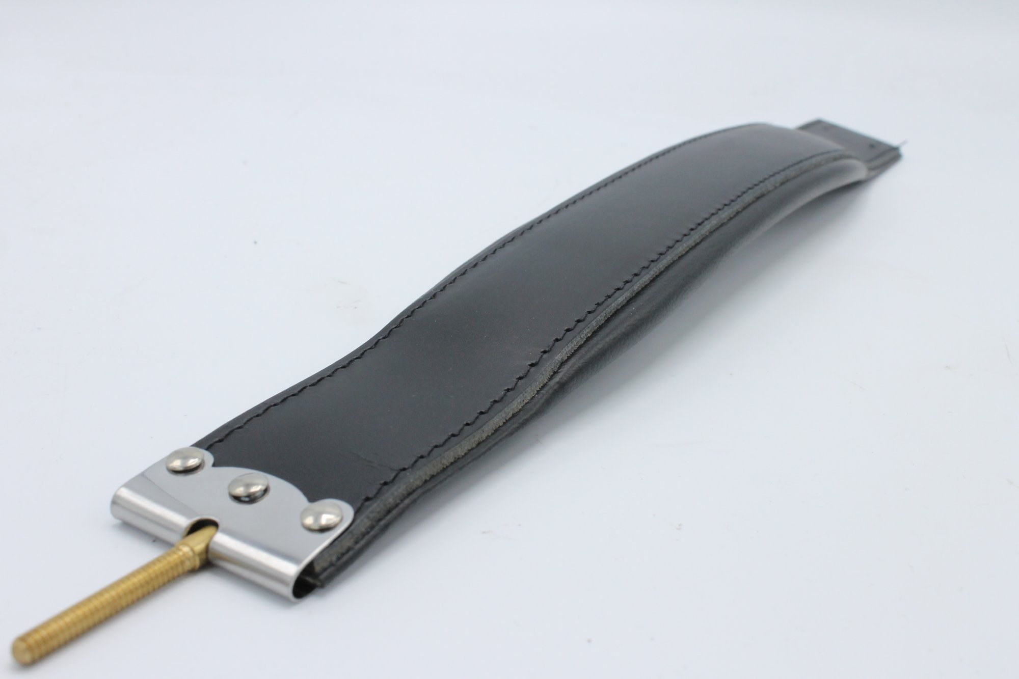 New Black Leather Fuselli Accordion Bass Hand Strap Width (2.2in/5.5cm) Length (17.75in/45cm)