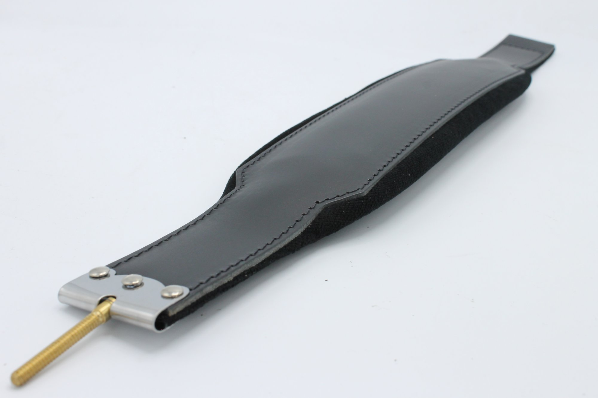 New Black Leather Velour Fuselli Accordion Bass Hand Strap Width (3.5in/9cm) Length (19.75in/50cm)