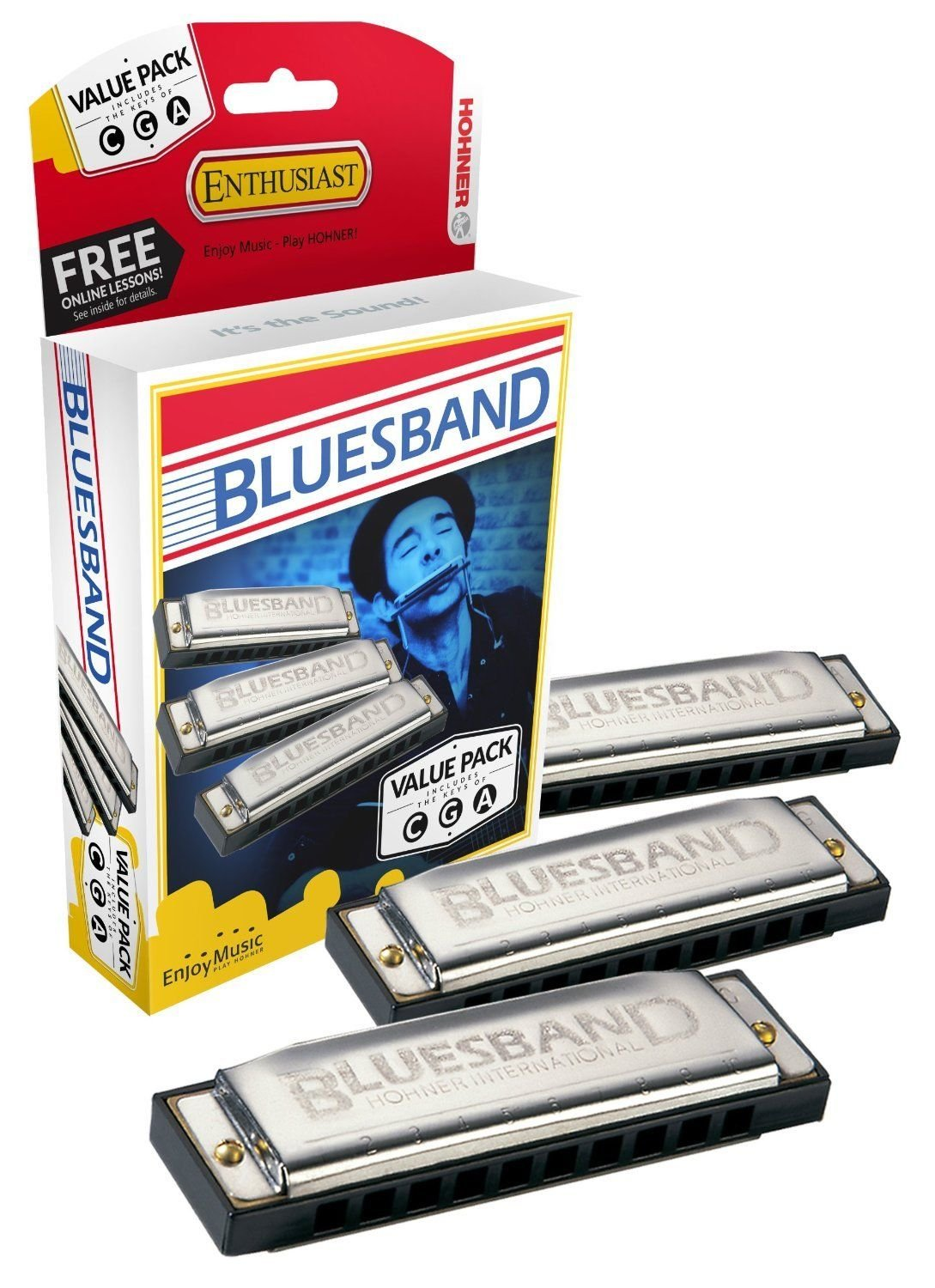 New Hohner Bluesband value pack Harmonicas