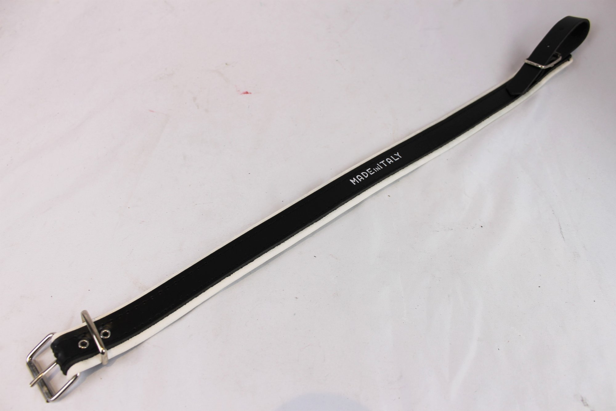 NEW Black and White Fuselli Leather Shoulder Strap Extender Width (3cm / 1.2in) Length (53.5cm / 21in)