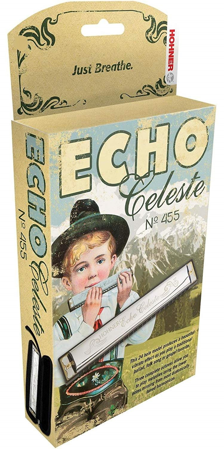 New Hohner Echo Celeste Tremolo Diatonic Harmonica Key of Eb