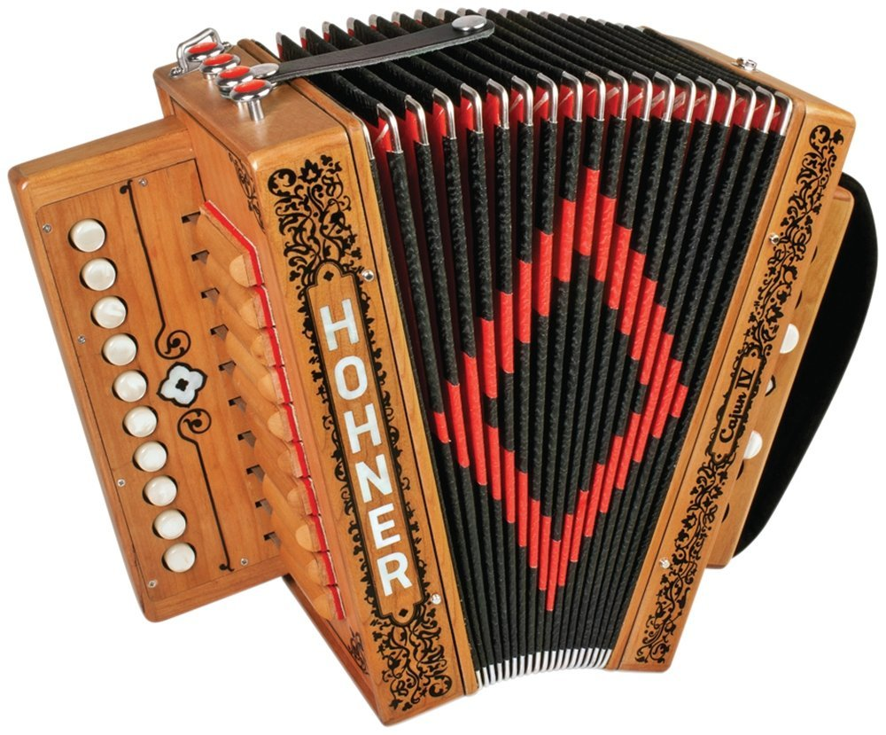 New Wood Hohner Cajun IV Diatonic Button Accordion Key of C LMMH 10 2