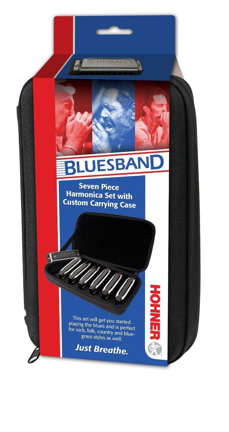 New Hohner Diatonic Harmonica BluesBand 1501/7 Blues Band 7-Pack A Bb C D E F G