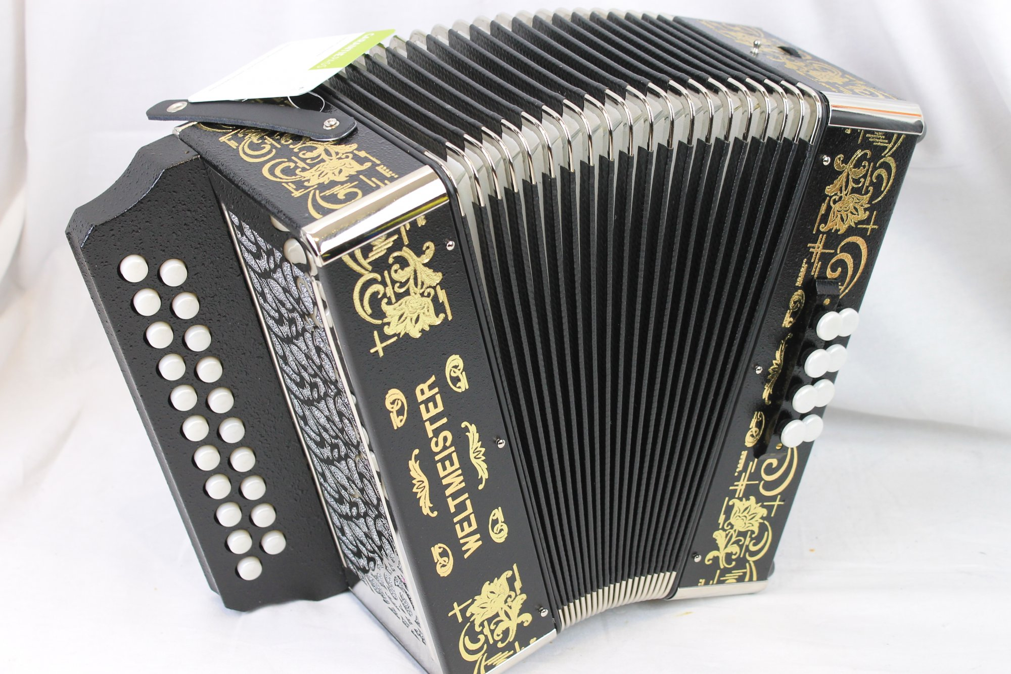 NEW Black Weltmeister 86W Diatonic Button Accordion D G MM 21 8