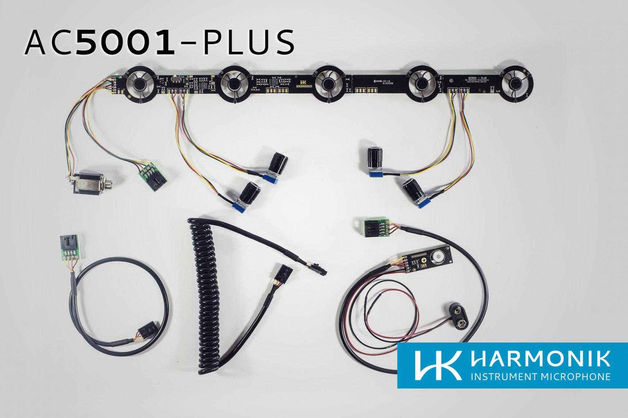 NEW Harmonik Microphone Kit AC5001-PLUS 5x1 Stereo or Mono with EQ