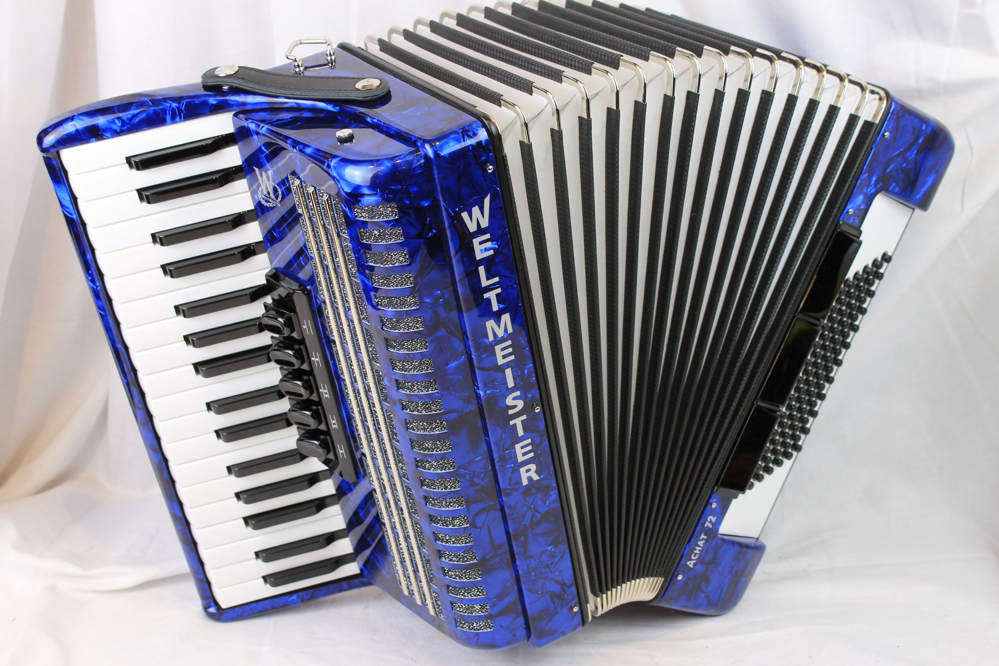 NEW Blue Weltmeister Achat Piano Accordion LMM 34 72