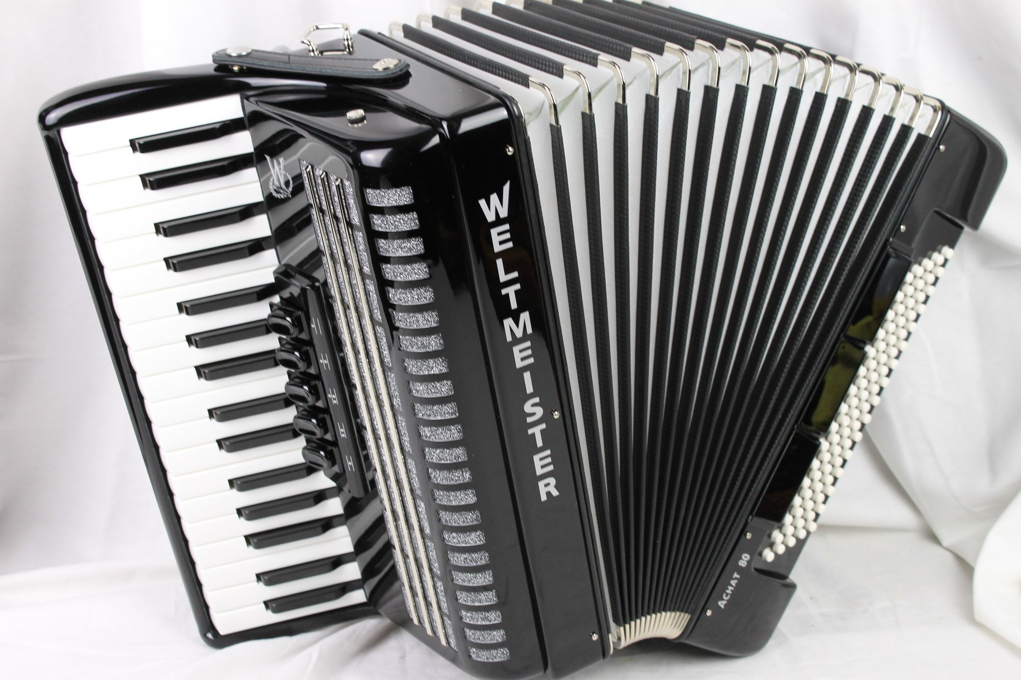 NEW Black Weltmeister Achat Piano Accordion LMM 34 80