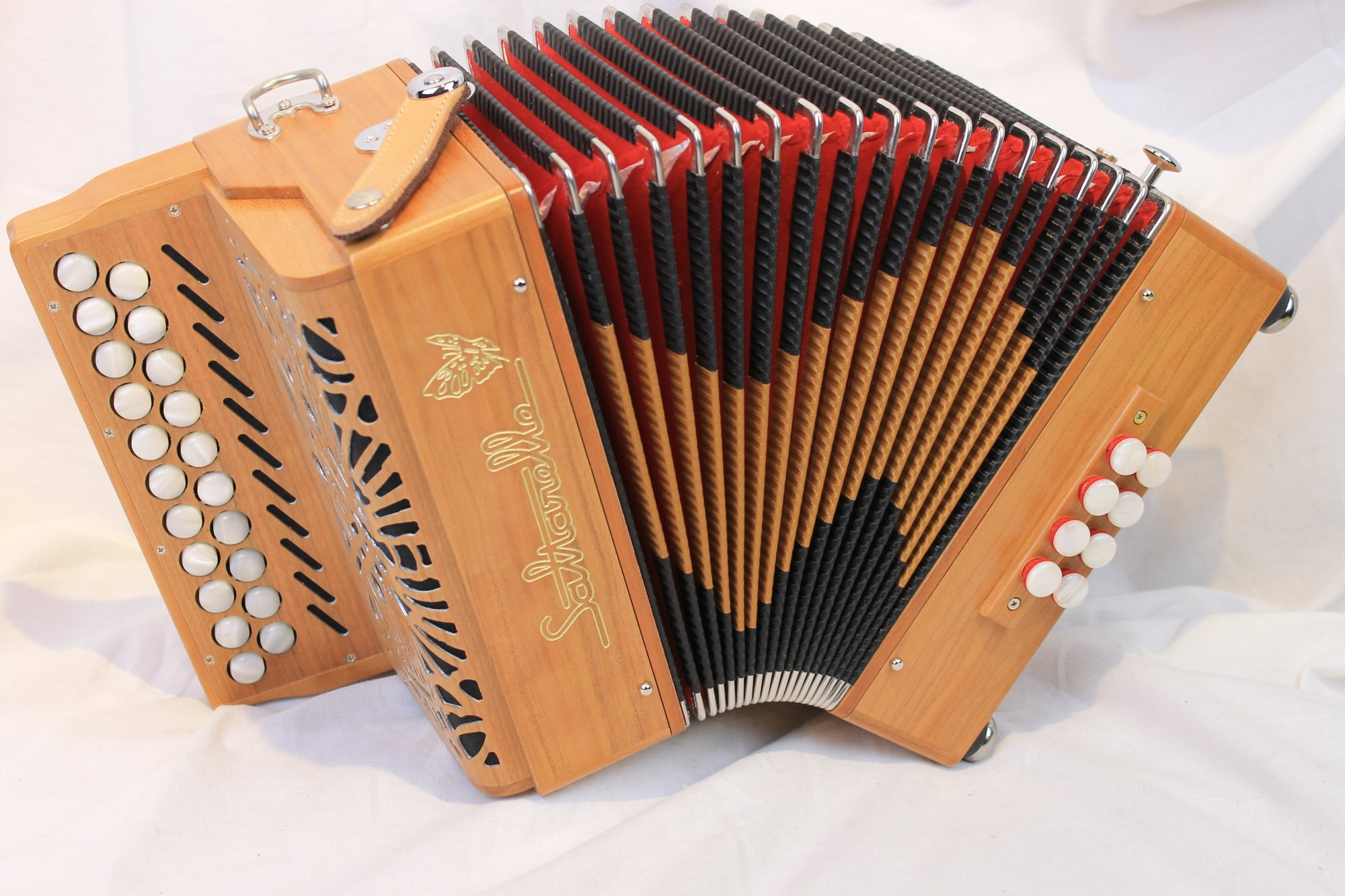 NEW Cherry Saltarelle Aether II Diatonic Button Accordion C#-D MM 21 8