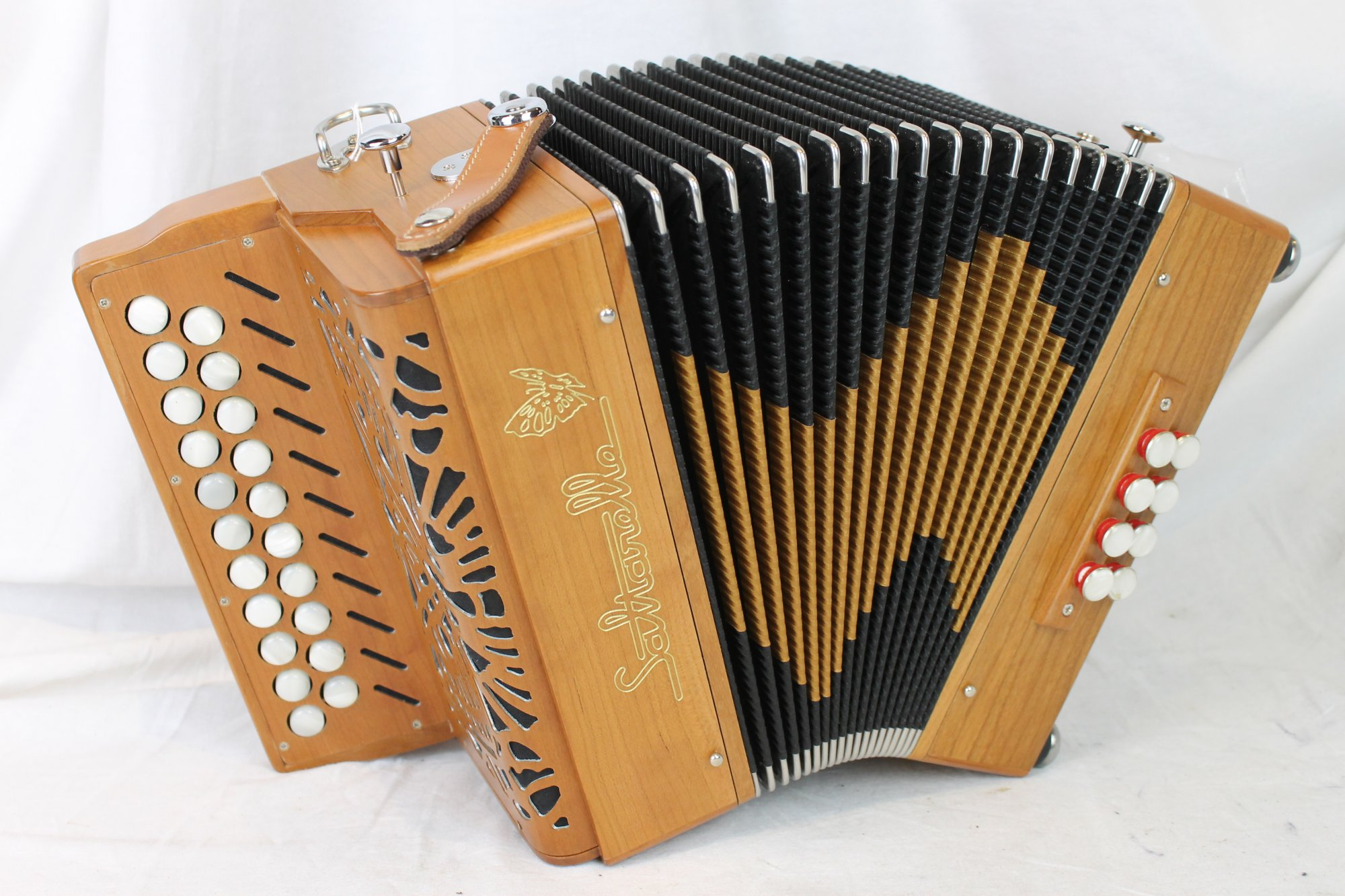 NEW Cherry Saltarelle Aether III Diatonic Button Accordion C# D LMM 21 8