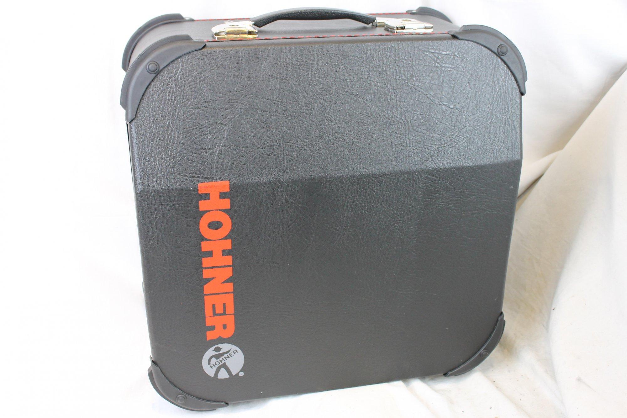 NEW Black Hohner Anacleto Diatonic Accordion Hard Case 16.5 x 16.5 x 9 (42cm x 42cm x 23cm) Fits Anacleto