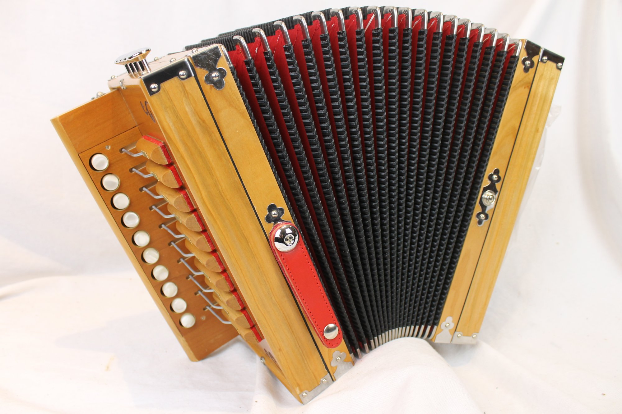 NEW Cherry Excelsior Acadia Diatonic Button Accordion C LMMH 10 2