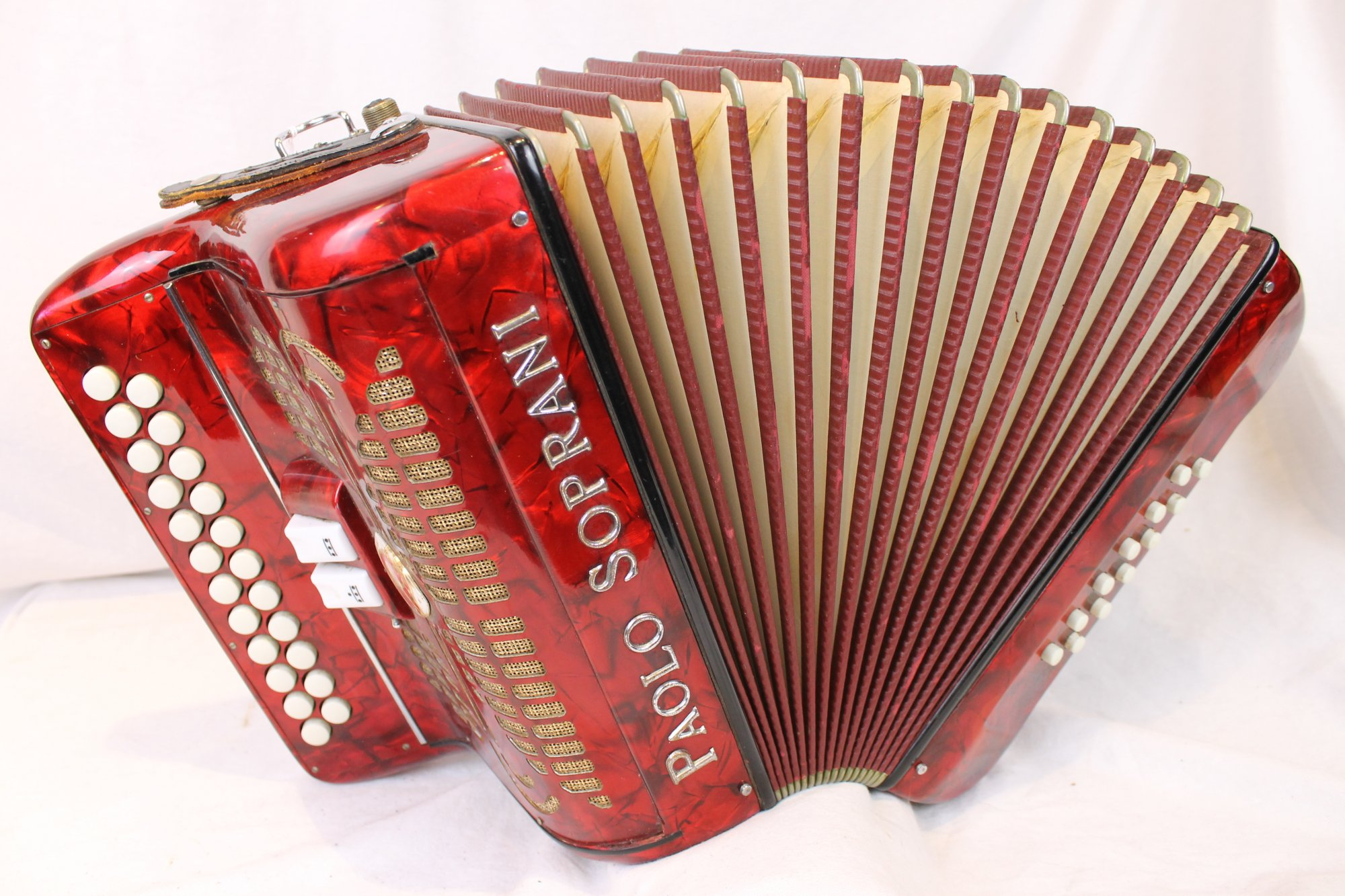 4006 - Red Paolo Soprani Red Badge Diatonic Accordion BC LMMM 23 12