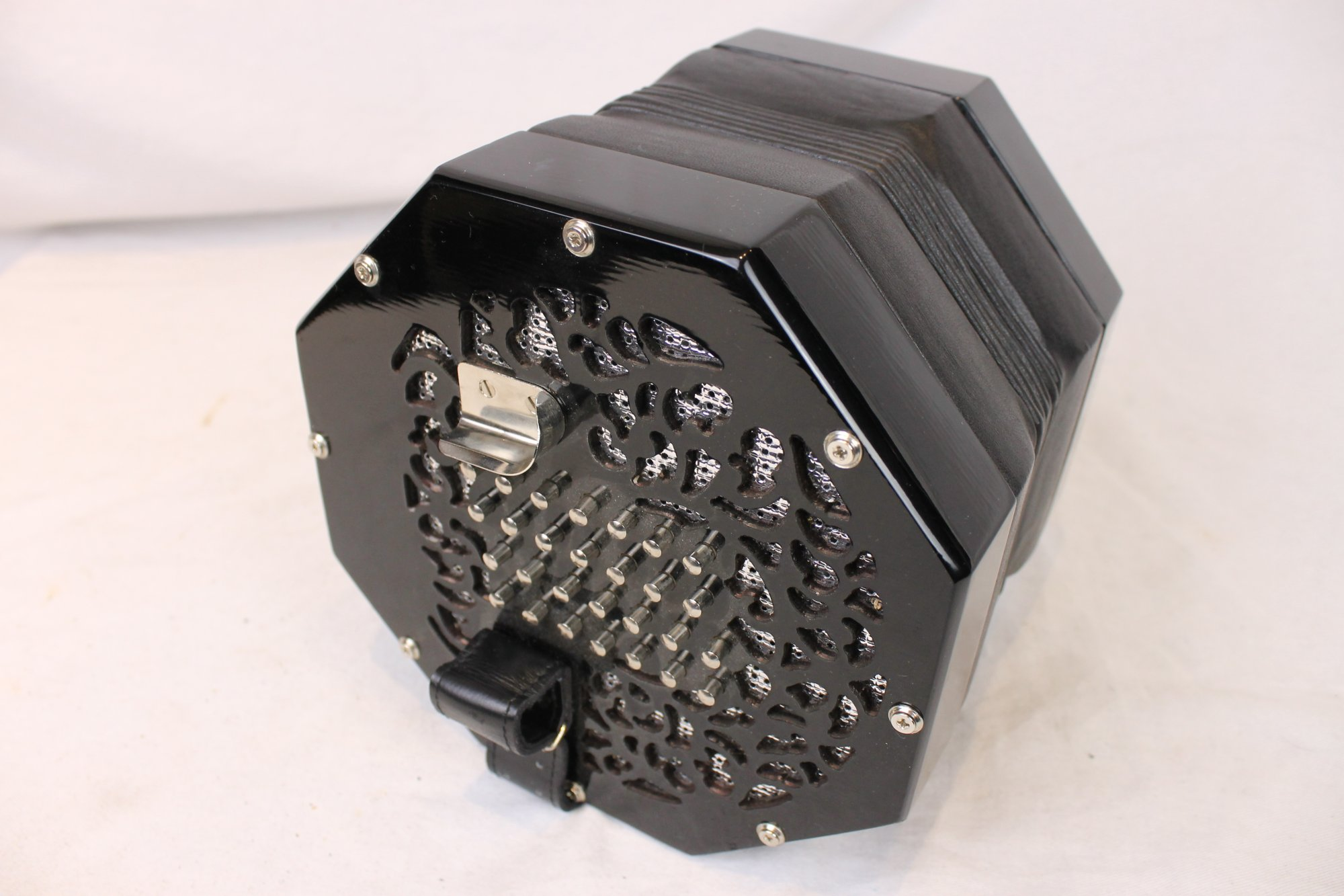 NEW Black Stagi A-56-N English Concertina Treble/Tenor C3-C7