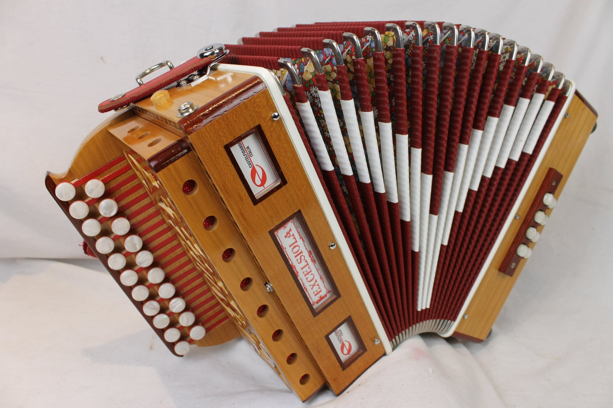 NEW Cherry Excelsior Excelsiola 8B Organetto Diatonic Button Accordion AD LMM 21 8